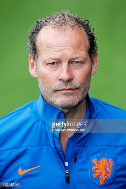 Assistant Manager of the Netherlands Danny Blind poses prior to the Netherlands training session held at the AFAS Stadion on June 3 2014 in Alkmaar...