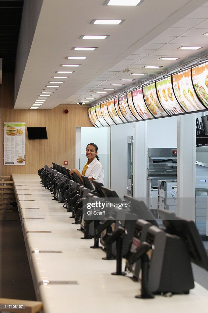 Assistant Manager Rachel Lucien Stands At The Checkouts In Worlds Largest McDonalds Restaurant Which Is