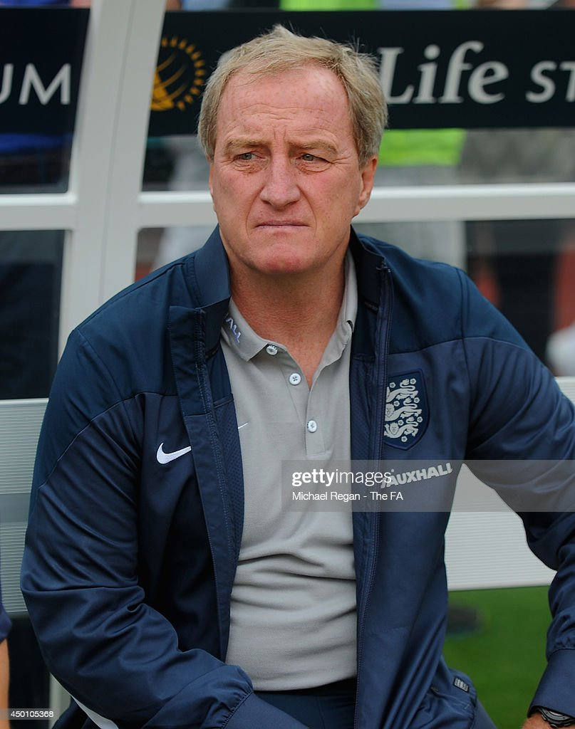Assistant manager <a gi-track='captionPersonalityLinkClicked' href=/galleries/search?phrase=Ray+Lewington&family=editorial&specificpeople=224730 ng-click='$event.stopPropagation()'>Ray Lewington</a> looks on during the International Friendly match between England and Ecuador at Sun Life Stadium on June 4, 2014 in Miami Gardens, Florida.