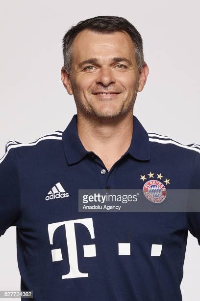 Assistant manager Willy Sagnol of FC Bayern Munich poses during the team presentation at Allianz Arena on August 8 2017 in Munich Germany