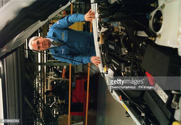 Assistant Managing Director of Nissan UK John Cushnaghan stands on the production line in it's factory in Sunderland this morning The company...