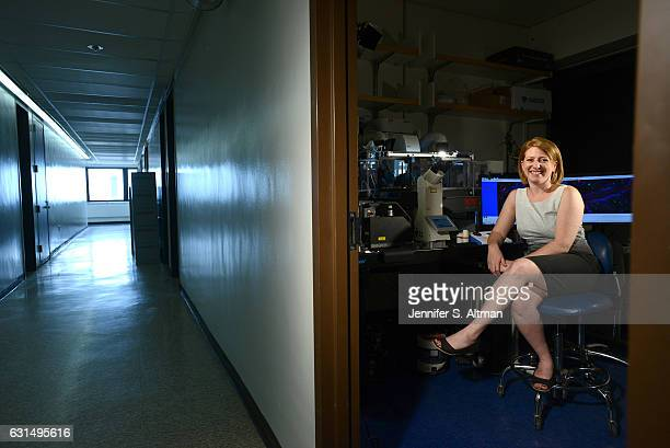 Assistant Professor of Pathology and Laboratory Medicine at Rutgers University Karen Edelblum is photographed for Philadelphia Inquirer on August 28...