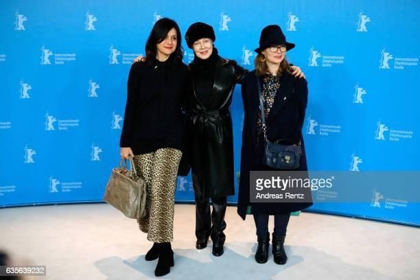 Assistant Raffaella Fandasia costume designer Milena Canonero and assitant and Stefanie Bruhn attend the 'The Shining Hommage Milena Canonero' photo...