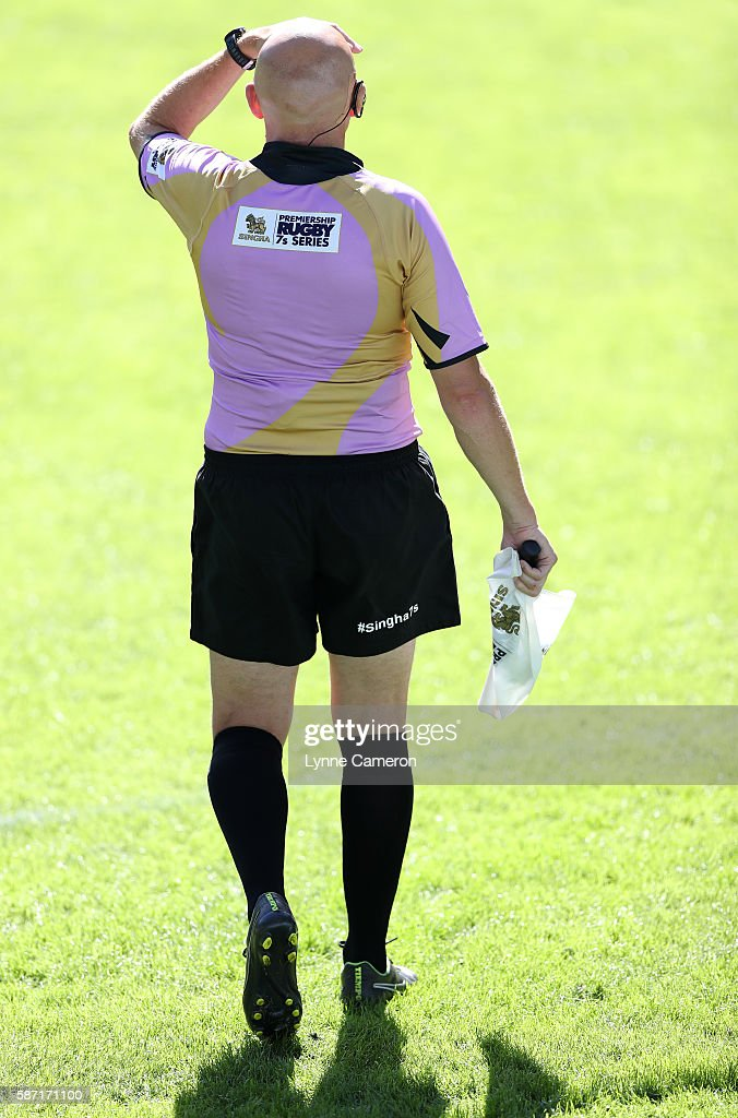 Assistant Referee during the semi final match between Cardiff Blues and Northampton Saints in the Singha Premiership Rugby 7's Series Final at Ricoh...