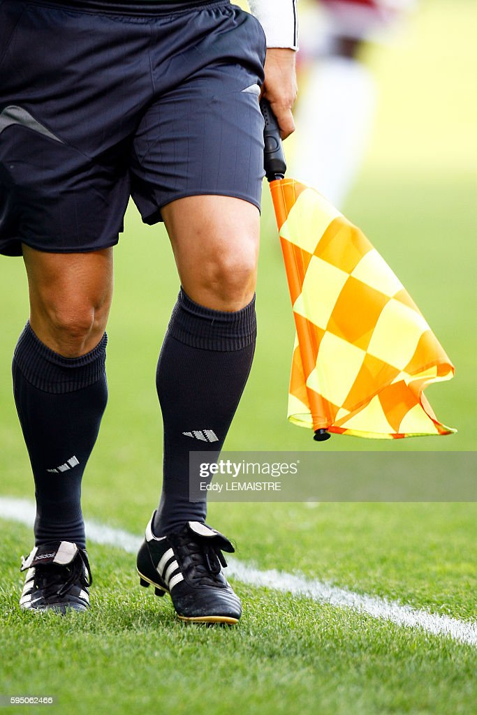 Assistant referee illustration during a Ligue 1 soccer match