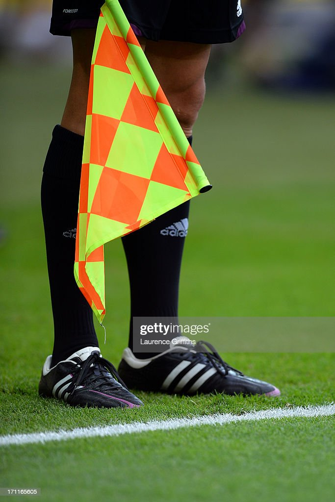 Assistant referee in action during the FIFA Confederations Cup Brazil 2013 Group A match between Japan and Mexico at Estadio Mineirao on June 22, 2013 in Belo Horizonte, Brazil.