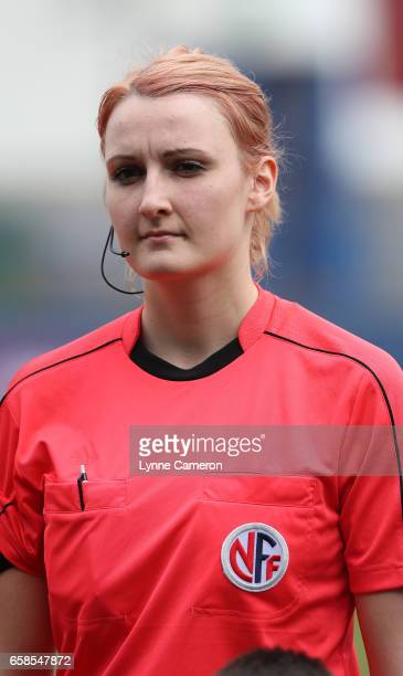 Assistant referee Line Catherine Nymoen before the England v Germany U17 Girl's Elite Round match on March 27 2017 in Telford England
