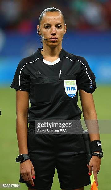 Assistant Referee Mariana De Almeida prior to the Women's First Round Group E match between China PR and Sweden on Day 4 of the Rio 2016 Olympic...