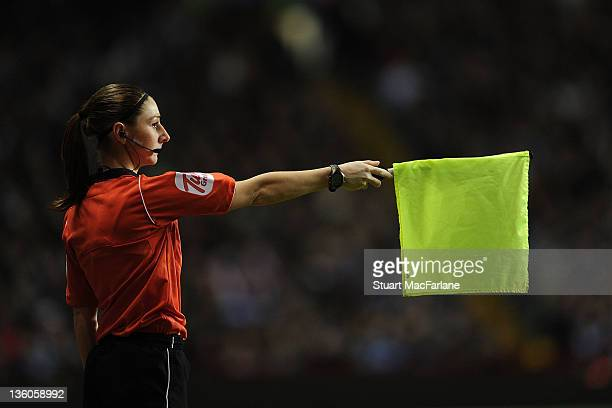 Assistant referee Sian Massey during the Barclays Premier League match between Aston Villa and Arsenal at Villa Park on December 21 2011 in...
