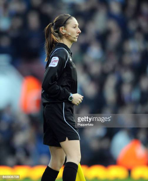 Assistant referee Sian Massey during the FA Cup 3rd round match between West Ham United and Barnsley at Upton Park Stadium in London on the 8th...