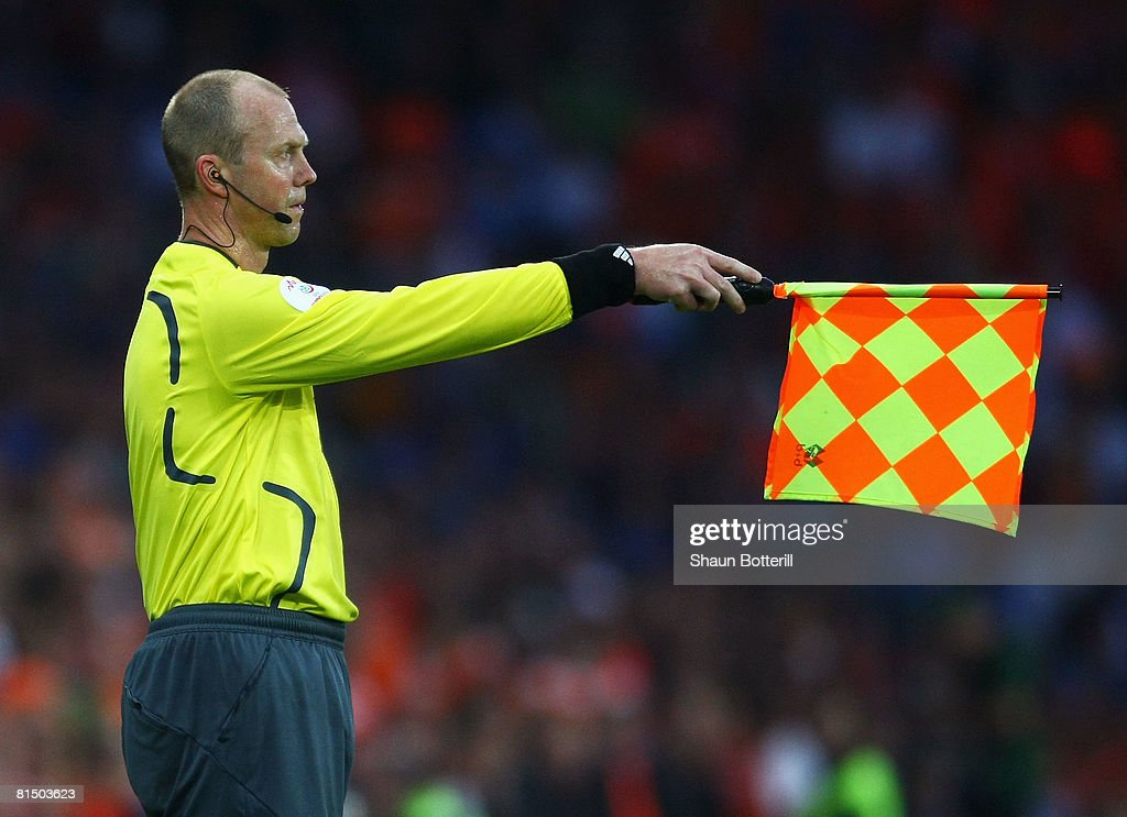 Assistant referee Stefan Wittberg of Sweden is pictured during the Euro 2008 Group C match between Netherlands and Italy at Stade de Suisse Wankdorf...
