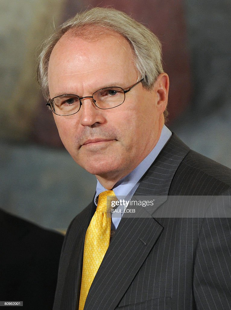 Assistant Secretary of State for East Asian and Pacific Affairs Chris Hill attends an event celebrating Asian Pacific American Heritage Month in the East Room of the White House in Washington, DC, on May 1, 2008.