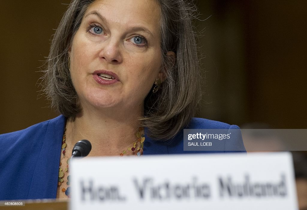 Assistant Secretary of State for European and Eurasian Affairs Victoria Nuland testifies before the Senate Foreign Relations Committee on the situation in the Ukraine, during a hearing on Capitol Hill in Washington, DC, January 15, 2014. AFP PHOTO / Saul LOEB