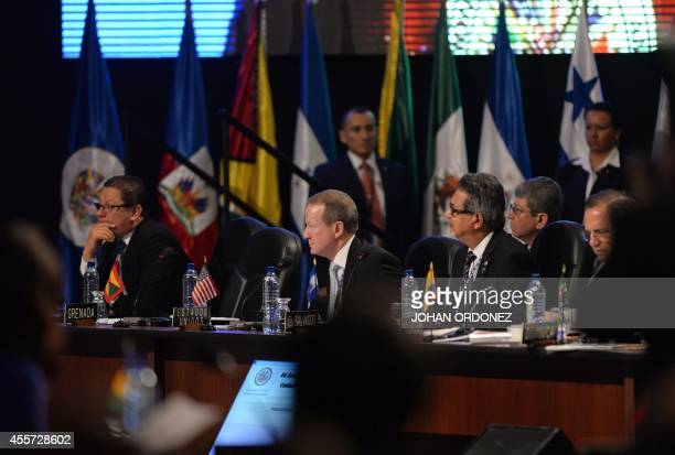 US Assistant Secretary of State for the Bureau of International Narcotics and Law Enforcement Affairs William Brownfield is seen during the opening...