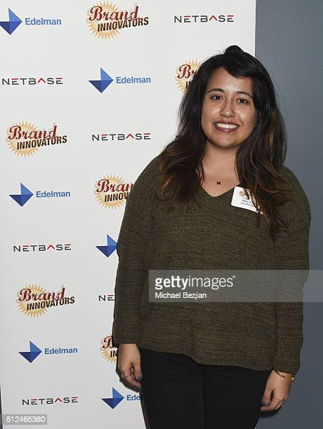 Assistant Social Media Manager Shea Moisture Nelly Ortiz attends Brand Innovators Social Media At Edelman In New York on February 25 2016 in New York...