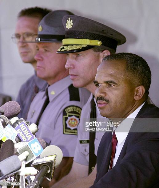 FBI Assistant Special Agent Roland Corvington Major Robert Hickes of the Pennsylvania State Police Lyle Pihka and Sommerset County Coroner Wallace...