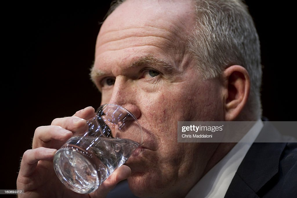 U.S. Assistant to the President for Homeland Security and Counterterrorism John Brennan testifies at his nomination hearing to be the next Director of the Central Intelligence Agency before the Senate Intelligence Committee. Brennan is expected to face questioning the drone targeted killing program.