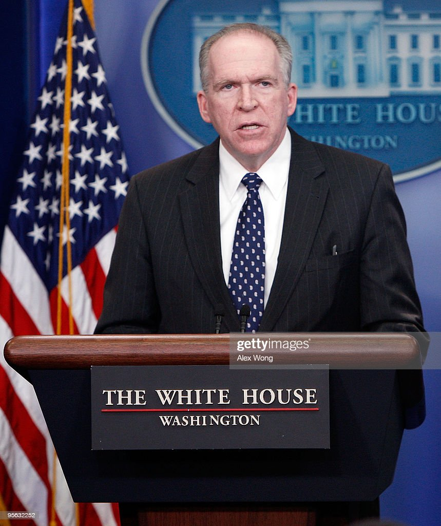 Assistant to U.S. President for Counterterrorism and Homeland Security John Brennan speaks during a media briefing at the White House January 7, 2010 in Washington, DC. President Barack Obama spoke earlier of the attempted terror attack on a jetliner bound for the U.S. on Christmas Day.