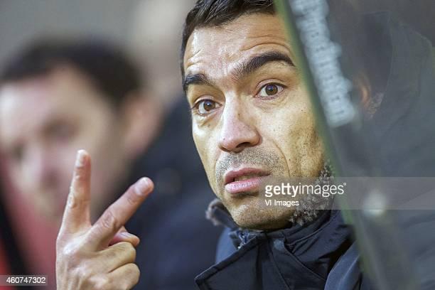 assistant trainer Giovanni van Bronckhorst of Feyenoord during the Dutch Eredivisie match between NAC Breda and Feyenoord at the Rat Verlegh stadium...