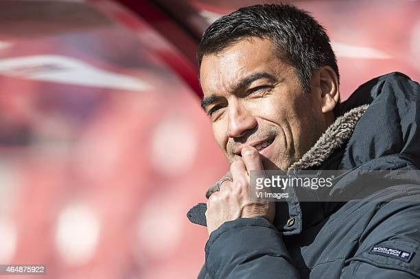 assistant trainer Giovanni van Bronckhorst of Feyenoord during the Dutch Eredivisie match between FC Utrecht and Feyenoord Rotterdam at the...