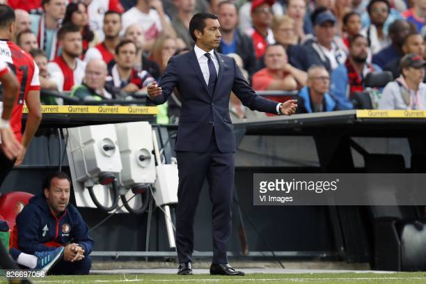 assistant trainer JeanPaul van Gastel of Feyenoord coach Giovanni van Bronckhorst during the Johan Cruijff Shield match between between Feyenoord...