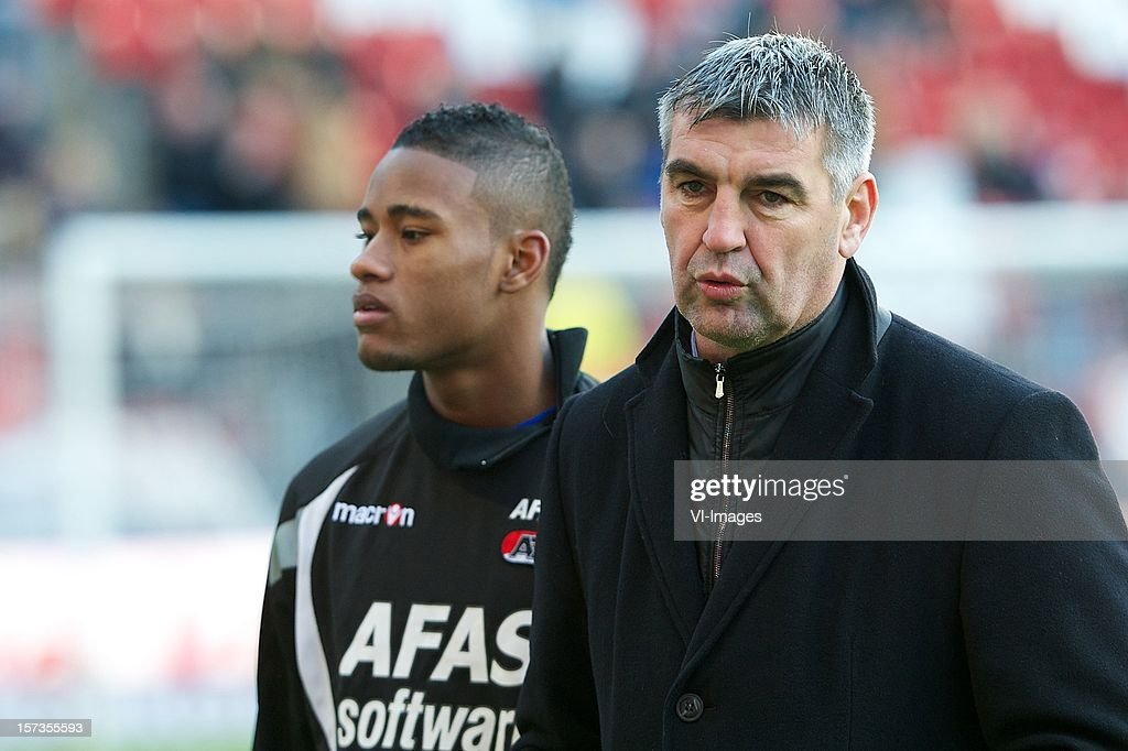 Assistant trainer Pieter Keur of AZ during the Dutch Eredivisie match between FC Utrecht and AZ Alkmaar at the Galgenwaard Stadium on December 02, 2012 in Utrecht, The Netherlands.