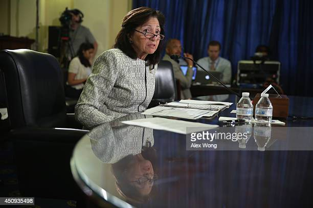 Assistant US Veterans Affairs Secretary for Human Resources and Administration Gina Farrisee testifies during a hearing before the House Veterans'...