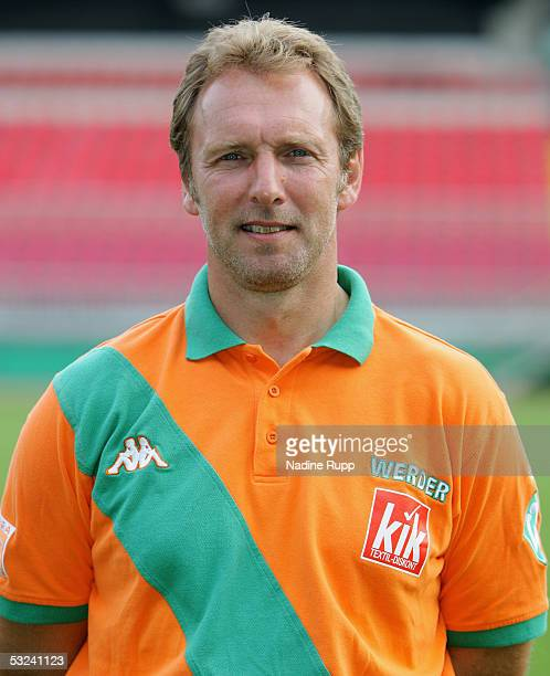 Assistantcoach Matthias Hoenerbach poses during the team presentation of Werder Bremen for the Bundesliga season 2005 2006 on July 15 2005 in Bremen...