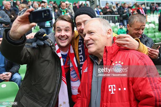 Assistent coach Hermann Gerland of Muenchen poses for pictures prior to the Bundesliga match between SV Werder Bremen and FC Bayern Muenchen at...