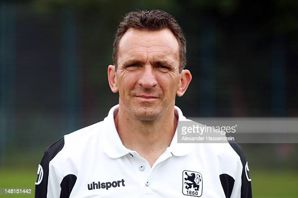 Assistent coach Juergen Wittmann of 1860 Muenchen poses during the Second Bundesliga team presentation of TSV 1860 Muenchen on July 11 2012 in Munich...