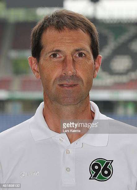 Assistent coach Julen Masach poses during the team presentation at HDIArena on July 8 2014 in Hanover Germany