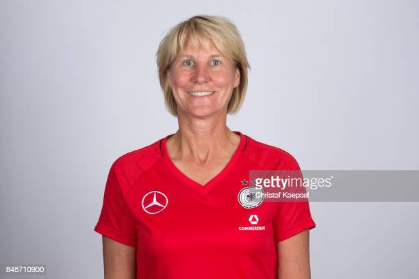 Assistent coach Margret Kratz poses during the U16 Germany Girls Team Presentation at Hotel Rheinischer Hof on September 11 2017 in Dinklage Germany