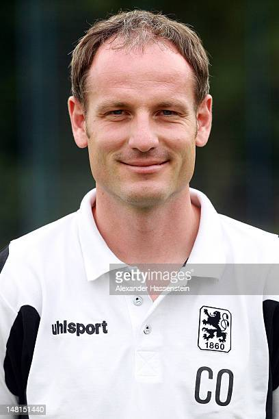 Assistent coach Markus Schroth of 1860 Muenchen poses during the Second Bundesliga team presentation of TSV 1860 Muenchen on July 11 2012 in Munich...