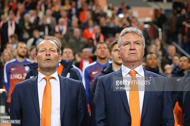 Assistent trainer Danny Blind of Holland Coach Guus Hiddink of Holland during the International friendly match between Netherlands and Spain on March...