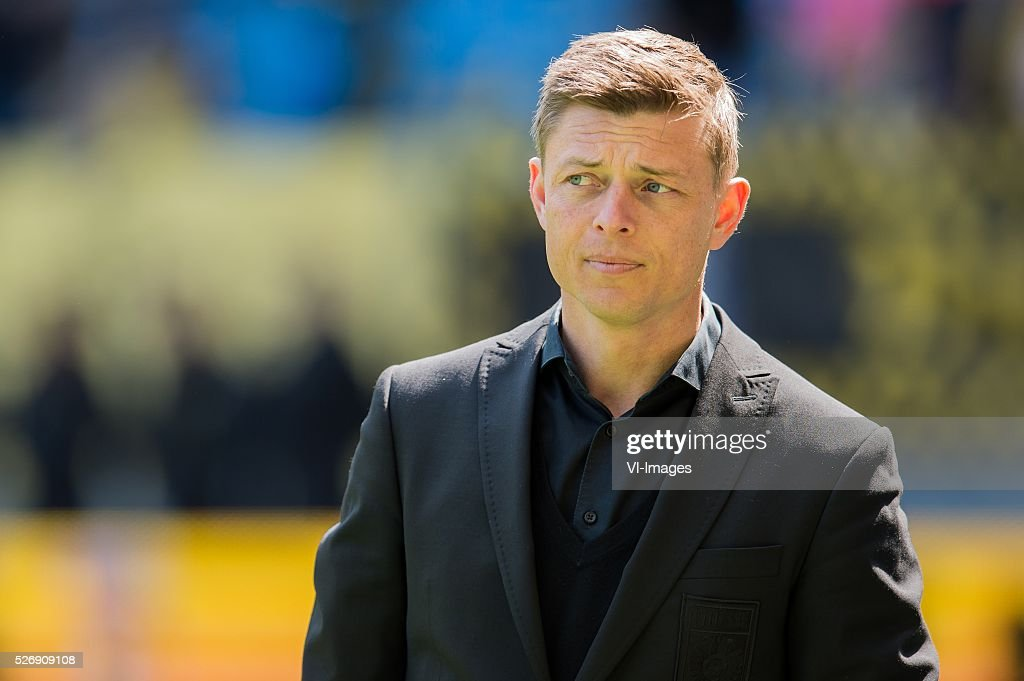assistent trainer Jon Dahl Thomasson of Vitesse during the Dutch Eredivisie match between Vitesse Arnhem and FC Utrecht at Gelredome on May 01, 2016 in Arnhem, The Netherlands