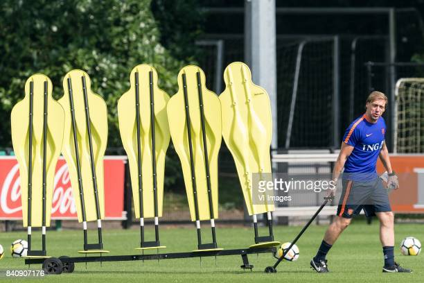 assistent trainer Paul Bosvelt of Netherlands U21 during the training session of Netherlads U21 at the KNVB training centre on August 30 2017 in...