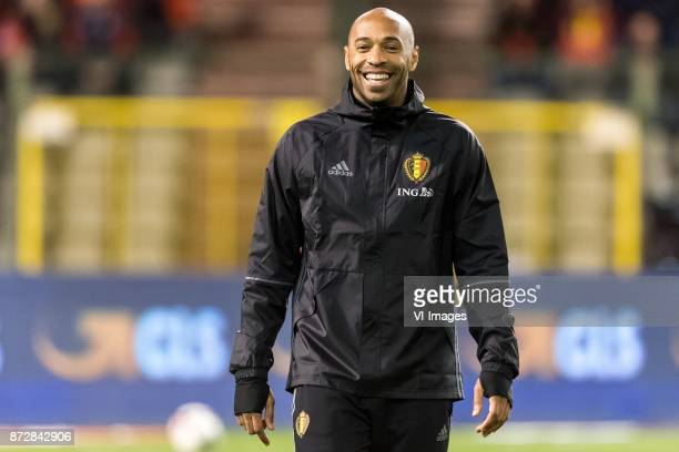 assistent trainer Thierry Henry of Belgium during the friendly match between Belgium and Mexico on November 10 2017 at the Koning Boudewijn stadium...