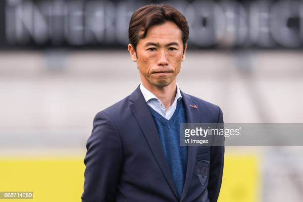 assistent trainer Toshiya Fujita of VVV Venloduring the Jupiler League match between RKC Waalwijk and VVV Venlo at the Mandemakers stadium on April...