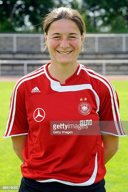 Assitant coach Verena Hagedorn of the U17 Women National Team Presentation poses during a photocall on June 19 2009 in Heusenstamm Germany