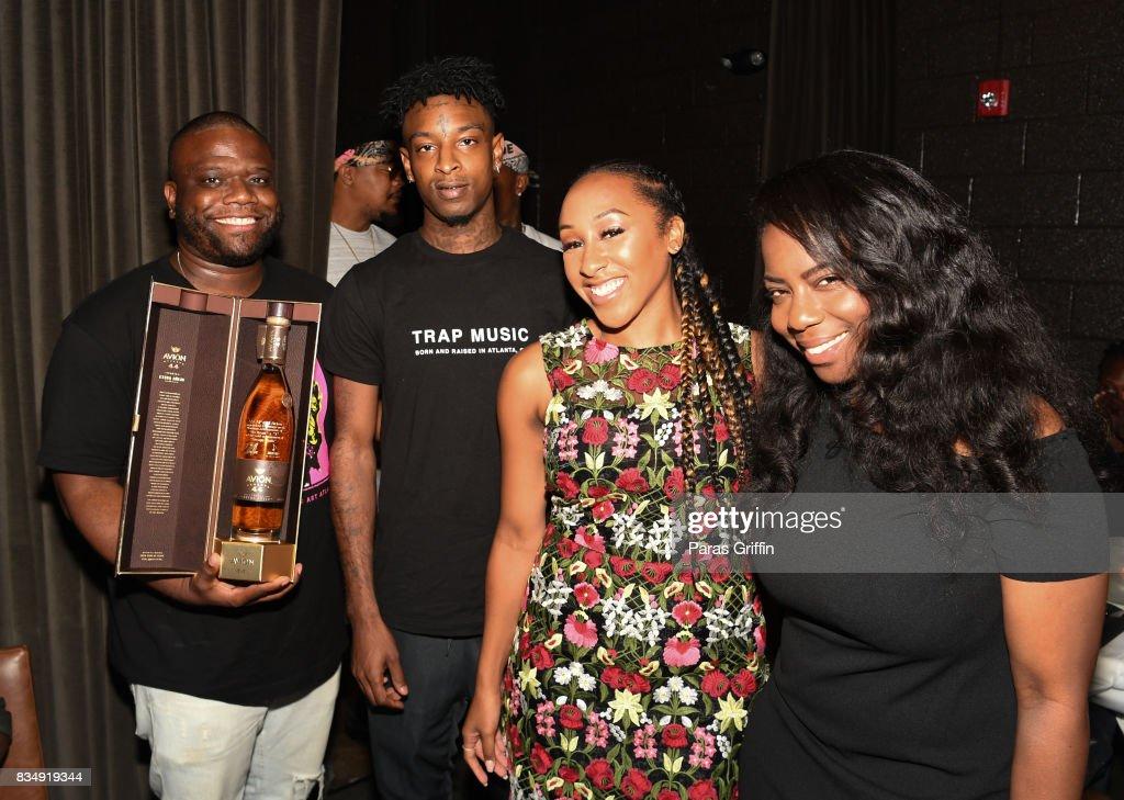 Associate Director Jason Riddick, 21 Savage, Rachel Jackson at ASCAP x Avion Tequila presents The Dinner for 21 Savage at KR Steakhouse on August 17, 2017 in Atlanta, Georgia.