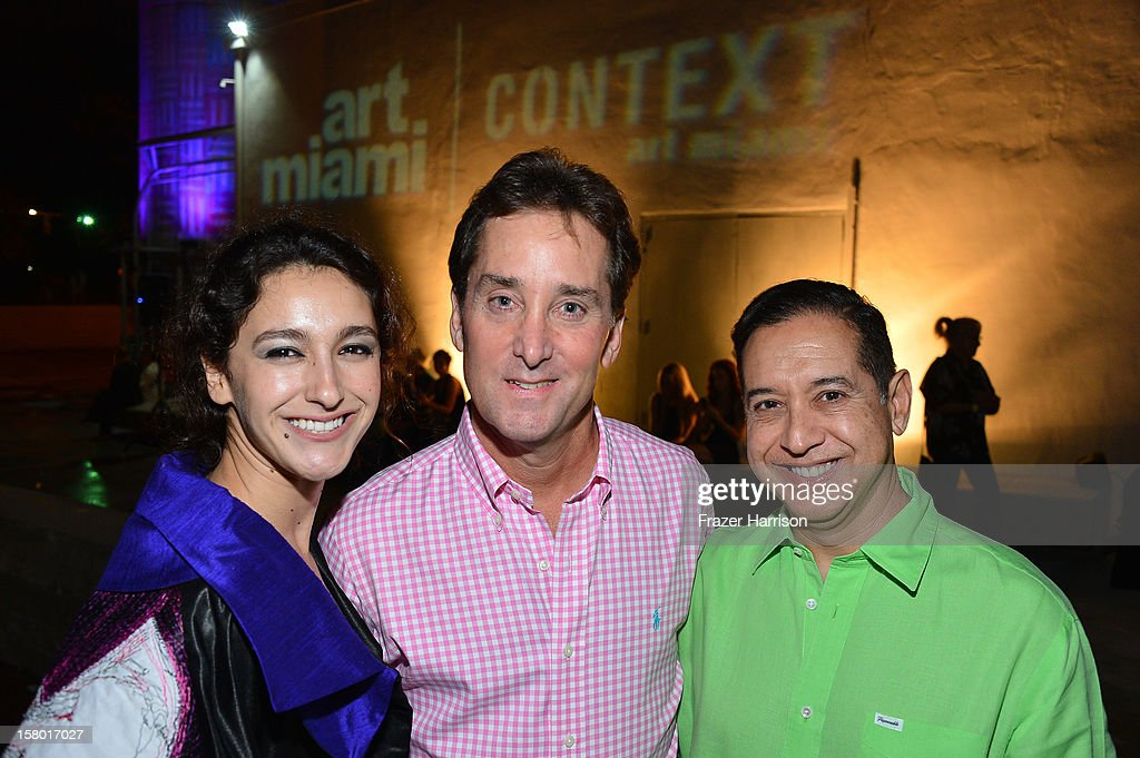 Associate Director of Exhibitions for the Bakehouse Art Complex Ananda DeMello, Lawrence Kline and Emilio Bonilla attend the Art Miami after party at Bakehouse Art Complex on December 8, 2012 in Miami, Florida.