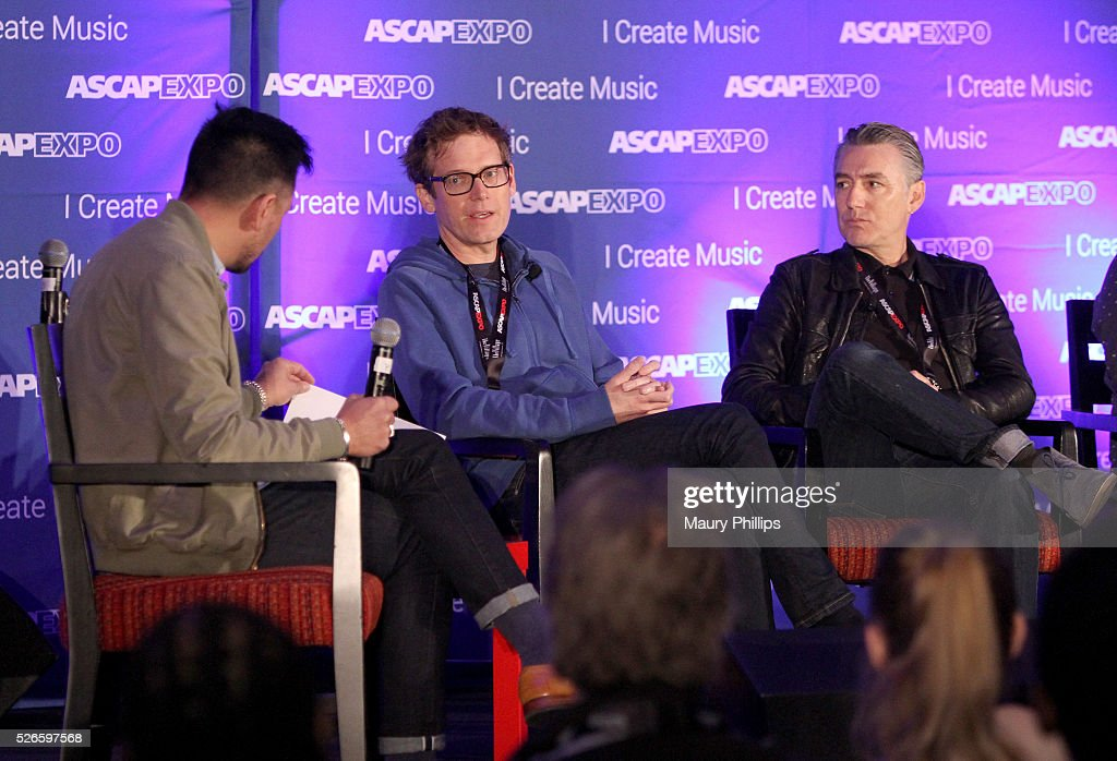 Associate Director, Pop/Rock Membership, Ed Reyes and musicians Xandy Berry and Wally Gagel speak onstage during the 'Art of Collaboration' panel, part of the 2016 ASCAP 'I Create Music' EXPO on April 30, 2016 in Los Angeles, California.
