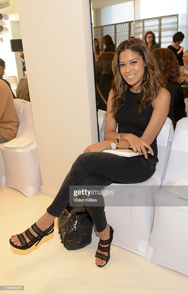 Associate Fashion Market Editor at Marie Claire Brittany Kozerski attends the Josie Natori show during Mercedes-Benz Fashion Week Spring 2014 on September 4, 2013 in New York City.