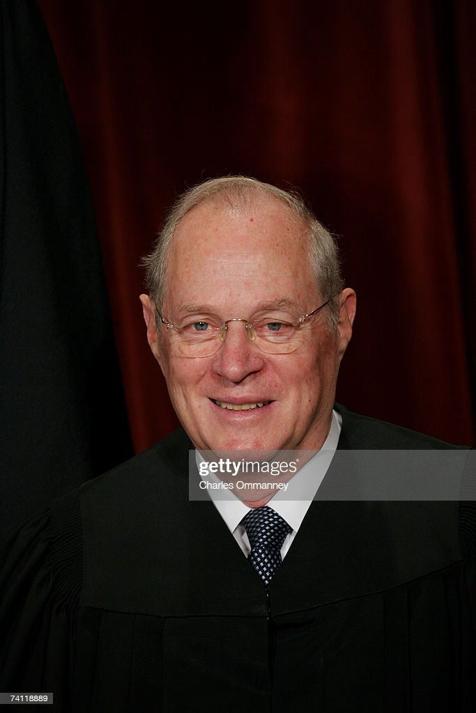 Associate Justice Anthony M. Kennedy pose for photographers at the U.S. Supreme Court October 31, 2005 in Washington DC. Earlier in the day U.S. President George W. Bush nominated judge Samuel Alito to replace Sandra Day O'Connor who is retiring once her replacement is confirmed by the Senate.
