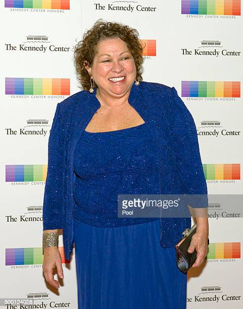 Associate Justice of the United States Supreme Court Sonia Sotomayor arrives for the formal Artist's Dinner honoring the recipients of the 38th...