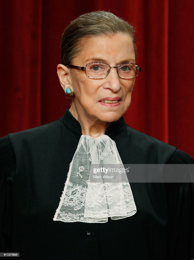 Associate Justice Ruth Bader Ginsburg poses during a group photograph at the Supreme Court building on September 29 2009 in Washington DC The high...
