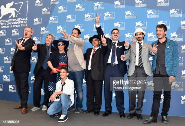 Associate producer Marco Visalberghi Directors and producers Khaled Soilman al Nassiry Antonio Augugliaro Gabriele del Grande and guests attend the...