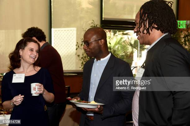 DGA Associate Western Executive Director Lisa Layer Outstanding Directorial Achievement in Feature Film nominee Barry Jenkins and director Roger Ross...