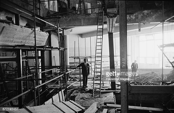 AssociatedRediffusion Controller of Programmes Roland Gillett surveys the new studios under construction at Television House on Kingsway London 1955...