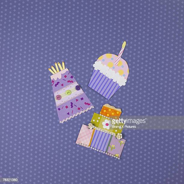 Assorted birthday party icons
